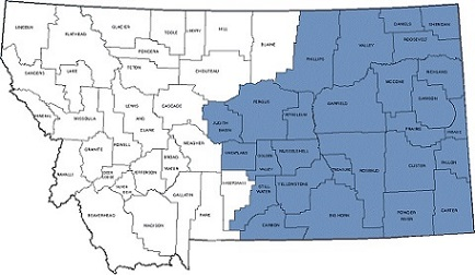 Eastern Montana Section - Eastern montana map
